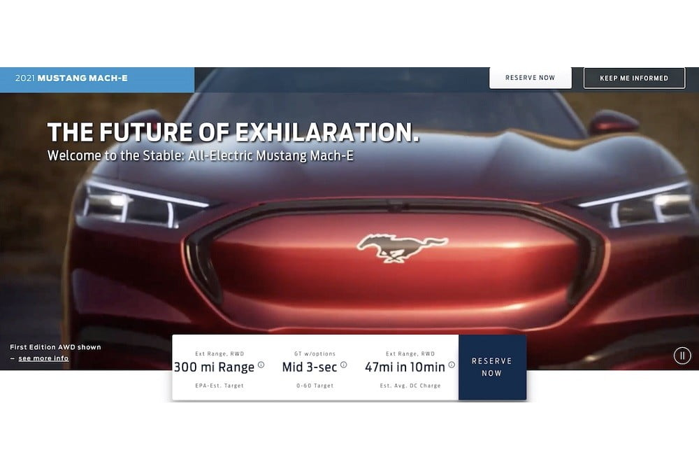 2021 ford mach e battery electric crossover teased on video leak 1