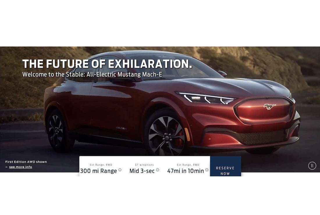 2021 ford mach e battery electric crossover teased on video leak 3
