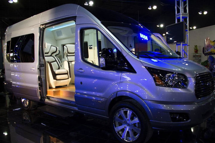 sorry vans home theater likely puts shame ford transit edit