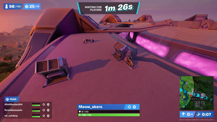 Equipment on top of abductors in Fortnite.
