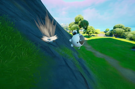 Fortnite challenge guide: Travel in an Inflate-A-Bull