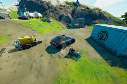 Fortnite challenge guide: Pop tires on IO vehicles