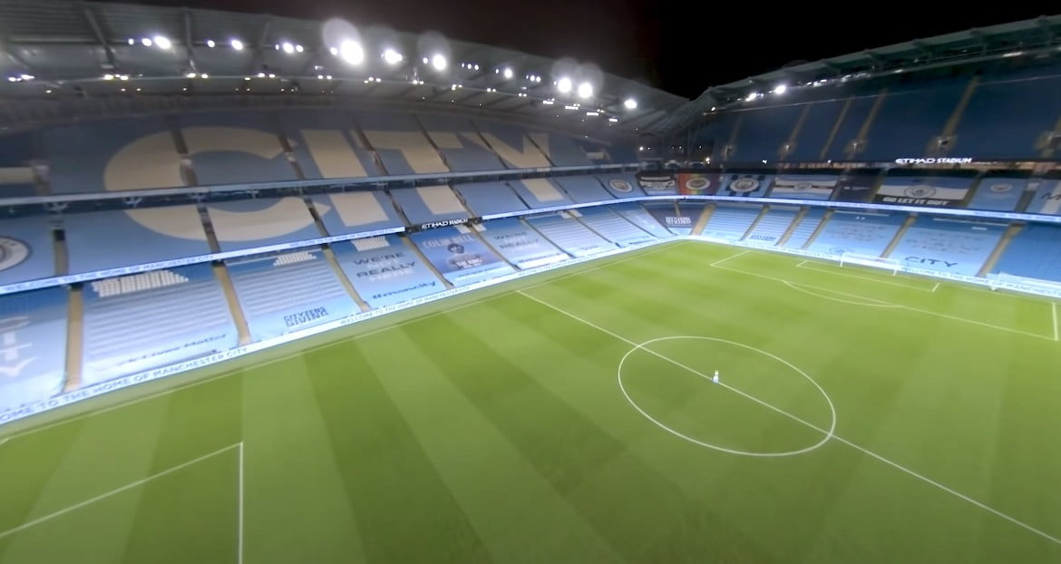 Watch this incredible FPV drone video of Man City's stadium | Digital Trends