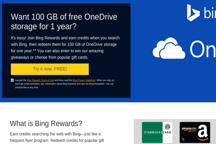 microsoft offers 100gb free onedrive space youre willing bing ftid4m5