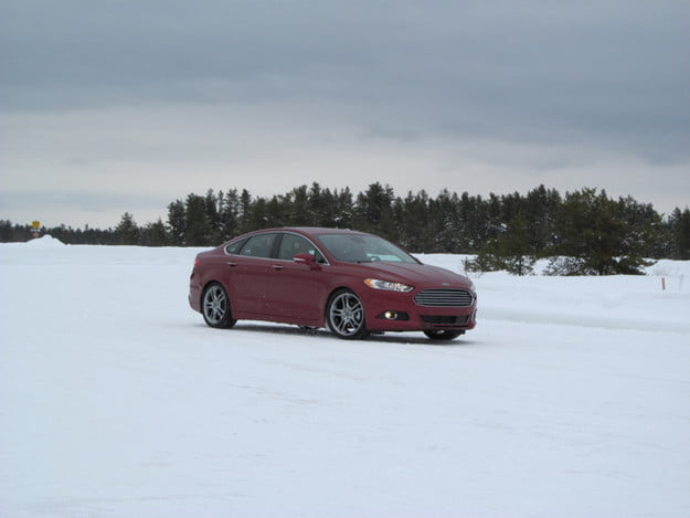 2013 Ford Fusion winter testing