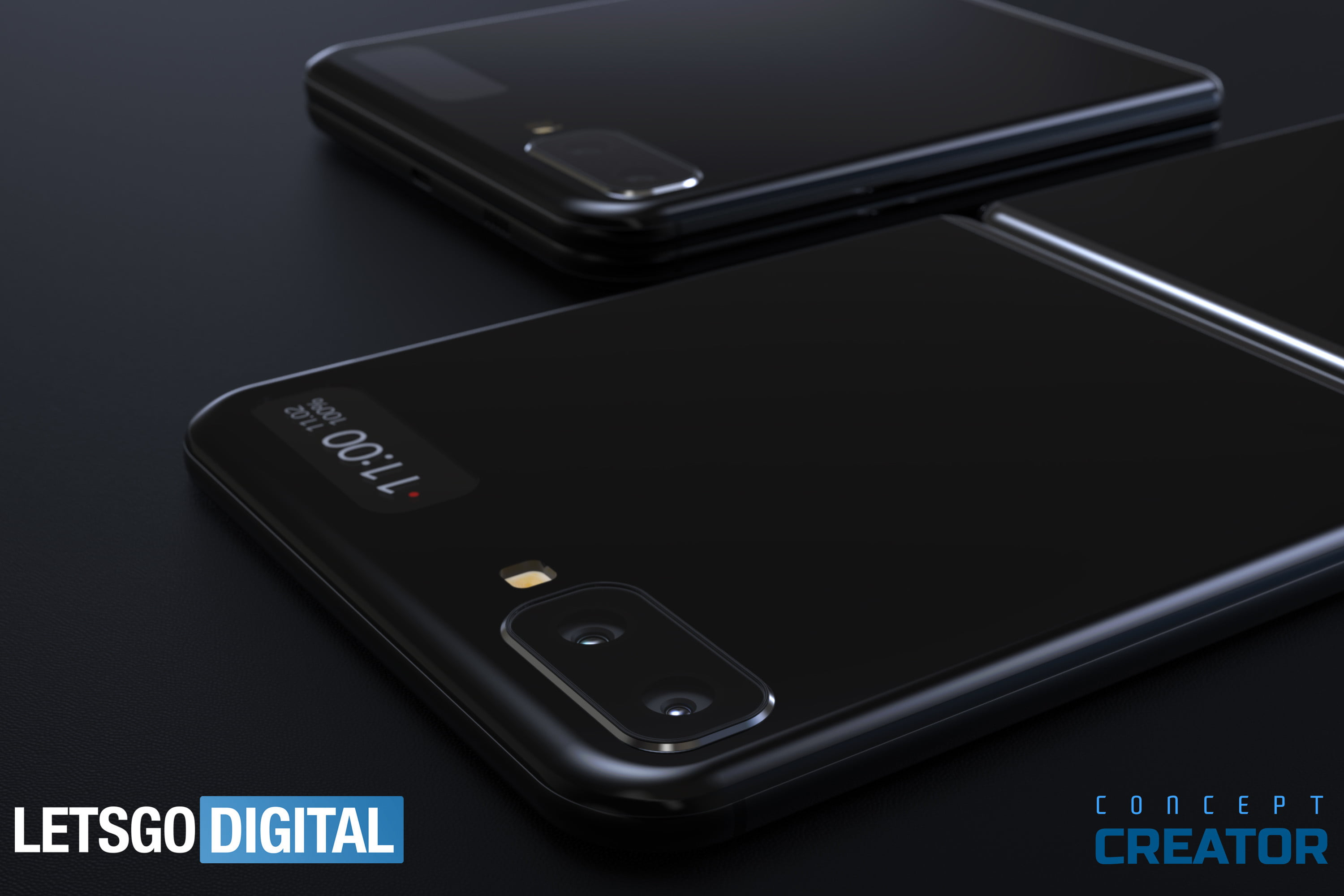 samsung galaxy fold 2 renders show square folds back angle