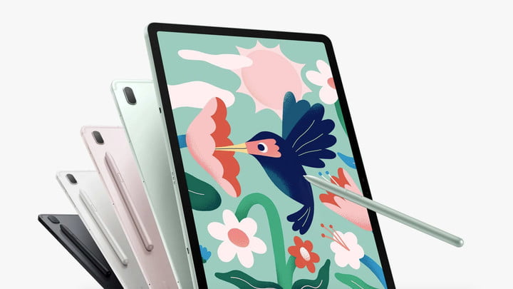 Galaxy Tab S7 FE 5G models and color options.