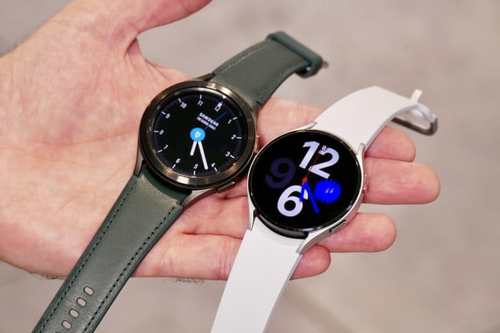 Galaxy Watch 4 Classic and Watch 4 side-by-side.