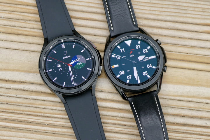 Galaxy Watch 4 Classic (left) and the Galaxy Watch 3 (right)
