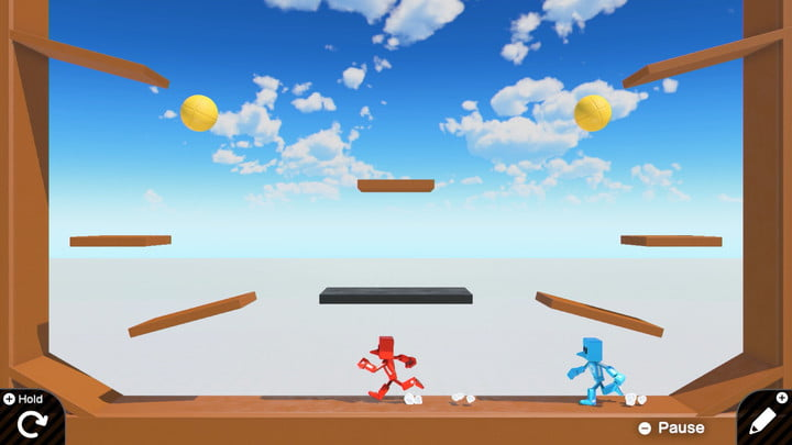Image of a 2d game in Game Builder Garage.