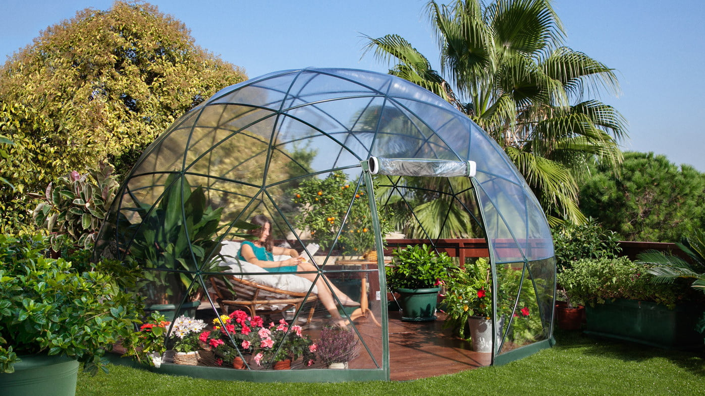 the garden igloo is a geodesic dome for your lawn 0011
