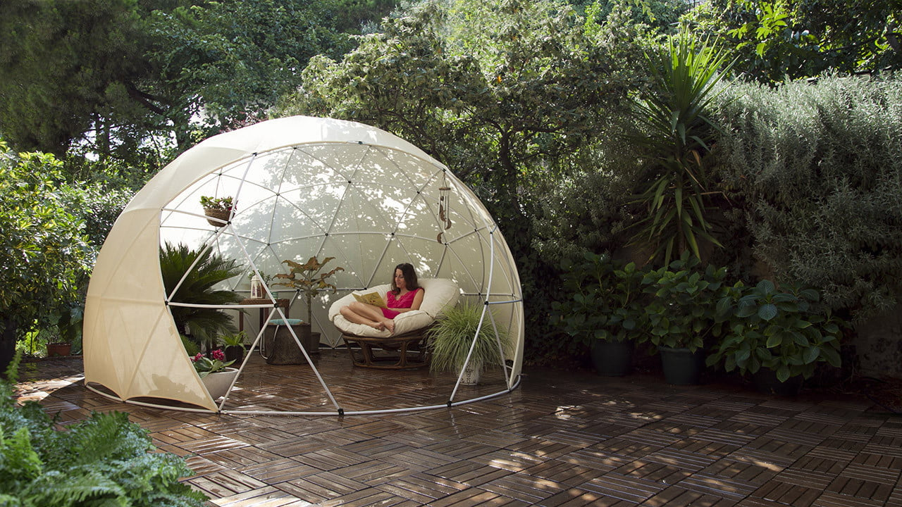 the garden igloo is a geodesic dome for your lawn 002