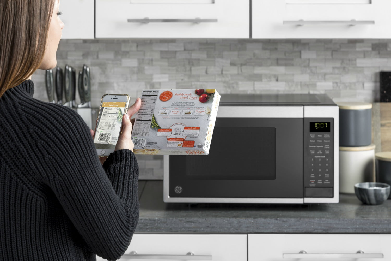 ge smart countertop microwave scan to cook technology with 03