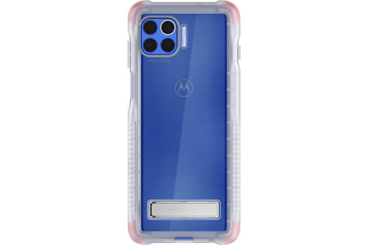 Ghostek Covert Clear Case with Stand for the Motorola One 5G.