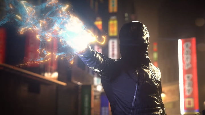 The hero of Ghostwire Tokyo uses supernatural powers.