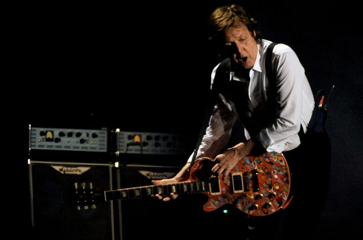 Paul McCartney performs on the Main Stage on Day 1 of the Coachella Music Festival in Indio, Ca