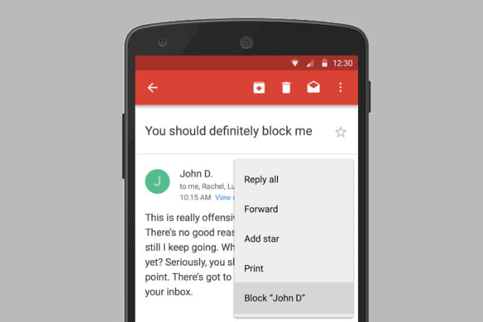 gmail finally rolls out block button