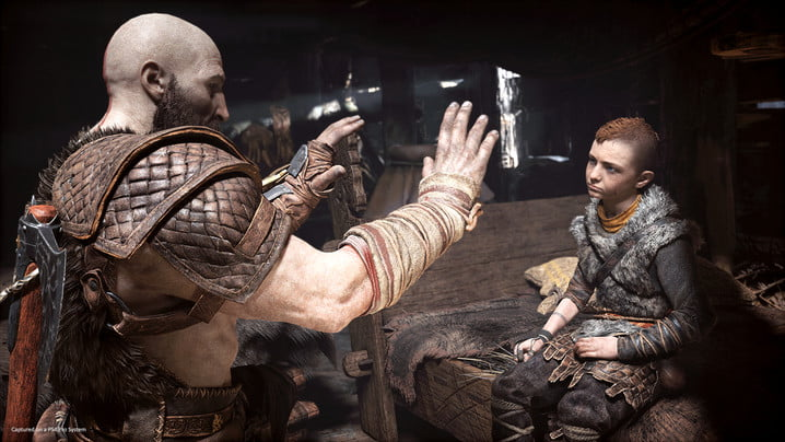 God of War Hands-on Preview   Kratos telling a story to Atreus