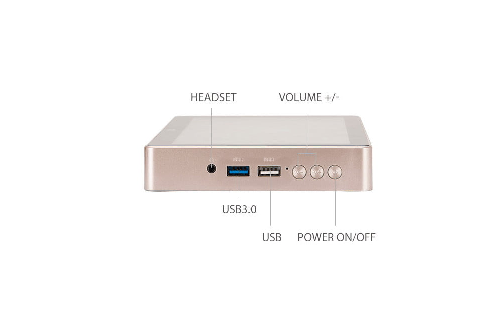 gole1 plus mini pc with display doubles as tablet side