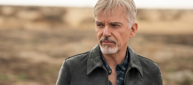 A close of of Billy Bob Thornton as Billy McBride in Goliath.