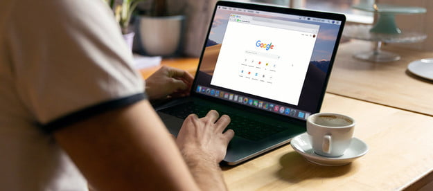 A MacBook with Google Chrome loaded.