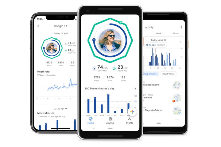 google fit redesign heart points move minutes