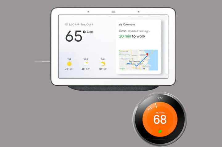 Google working with a Nest thermostat.