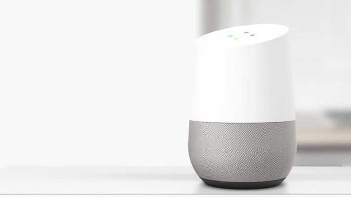 Image of Google Home, 16:9 scale.