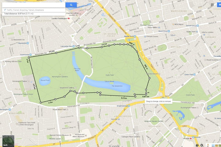 google maps now offers distance calculation tool feature