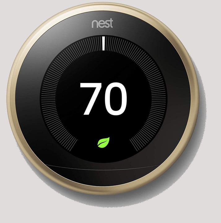 Nest Learning Thermostat set to 70 degrees.