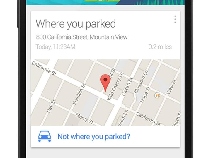 google now soon reminding parked parking