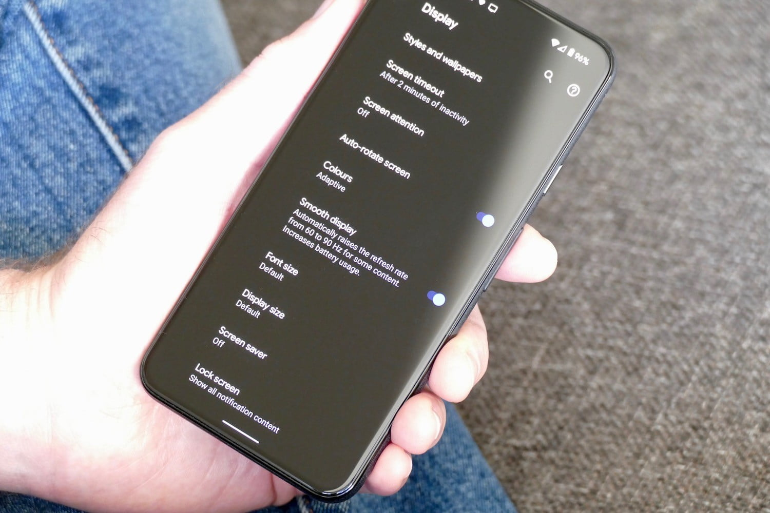 google pixel 5 review refresh rate