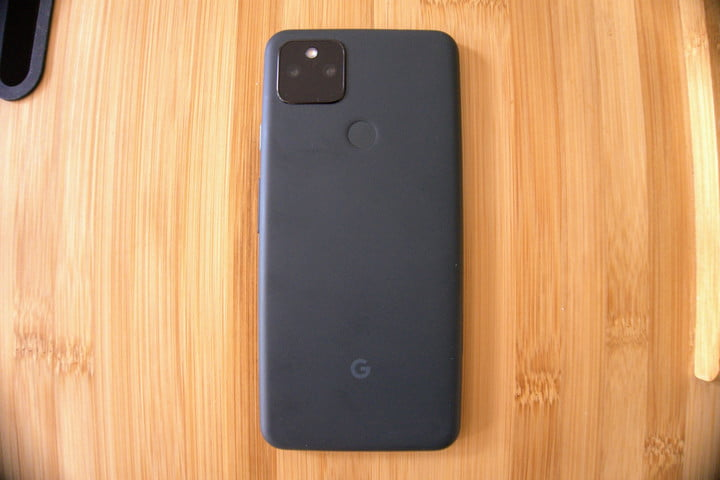 Google Pixel 5a from the back.