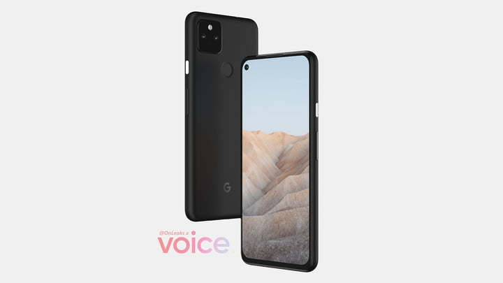 An alleged rendering of the Pixel 5a 5G.