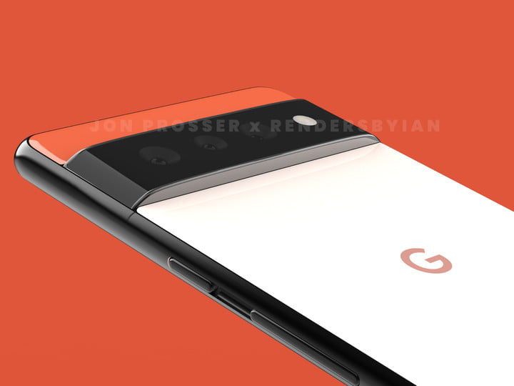 Google Pixel 6 leaked image of the phone's back.