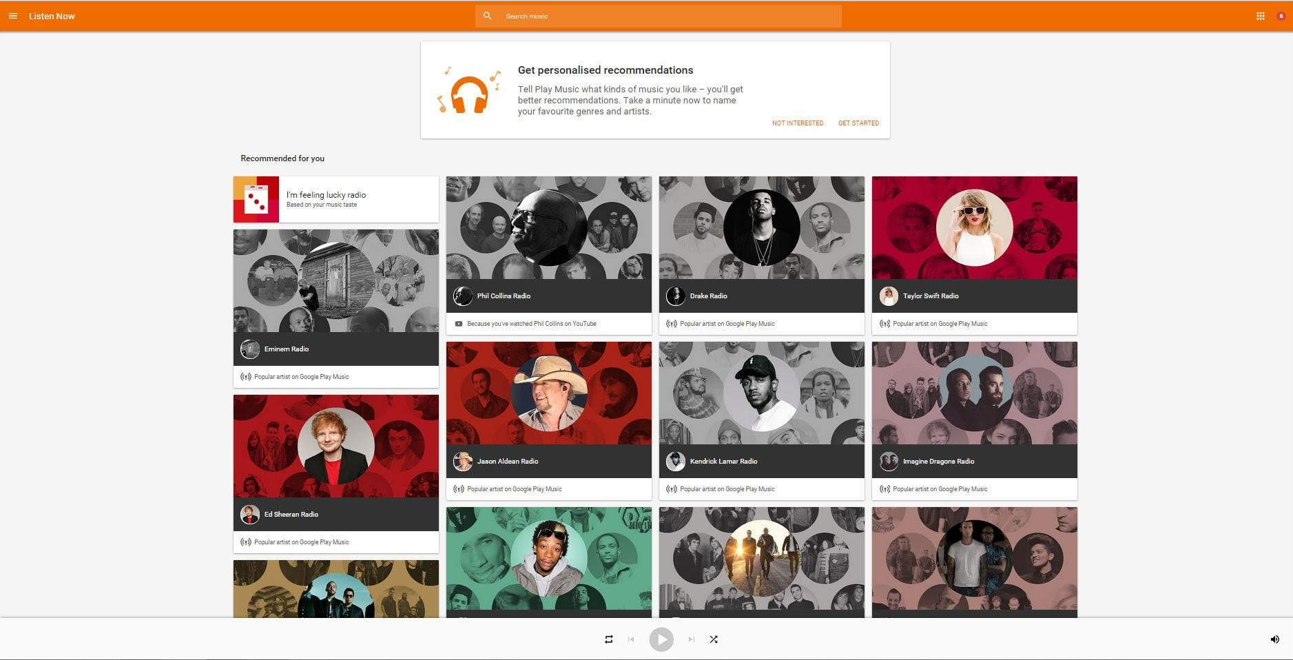 google music announces free ad supported tier play landing page