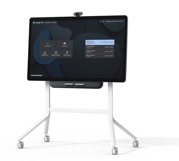 Google takes on Microsoft's Surface Hub with its collaboration-centric Series One Board 65.