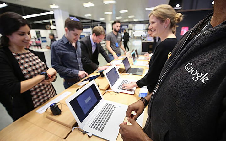 google opens first london store