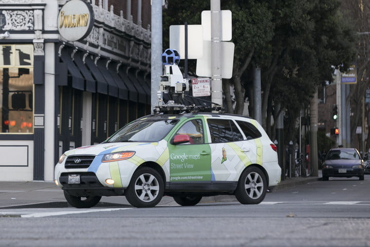 Google Street View Vehicle equipped with pollution tracking tech