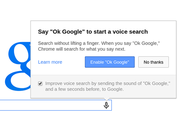 ok google chrome hands free voice search exits beta tested serch