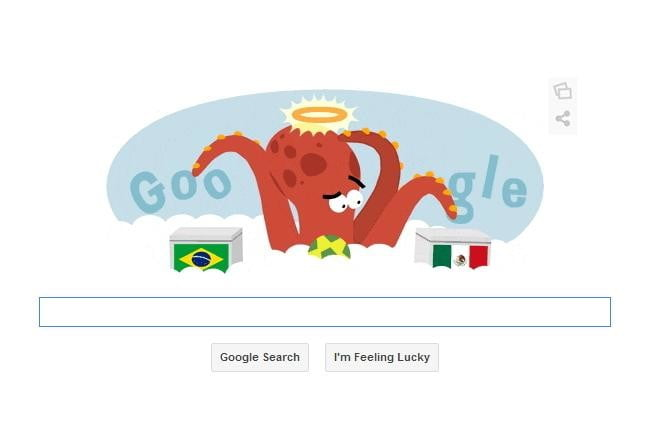 google doodle pays tribute to world cup and paul the octopus that predicted match outcomes