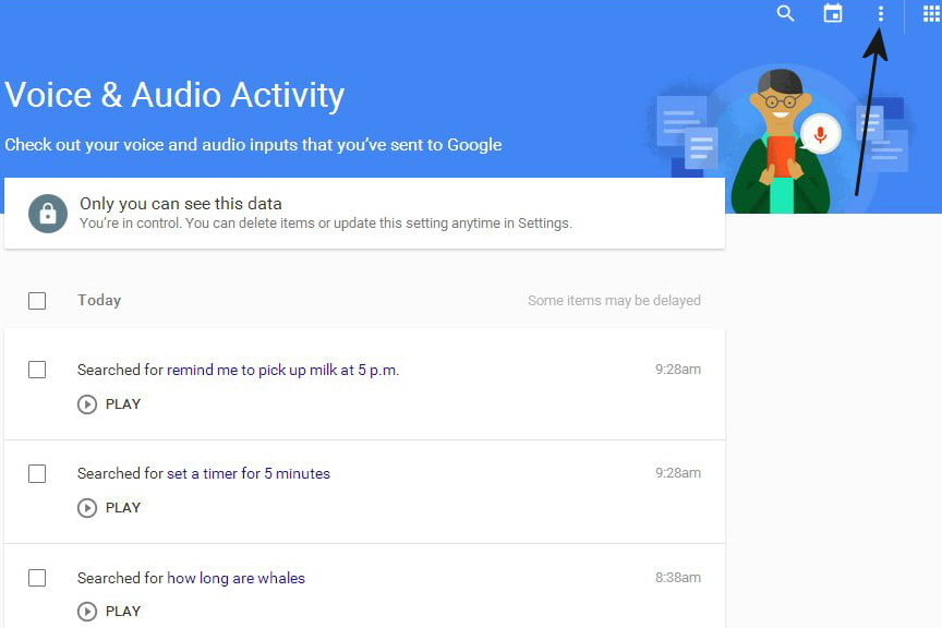 opt out delete google voice search history now 03a