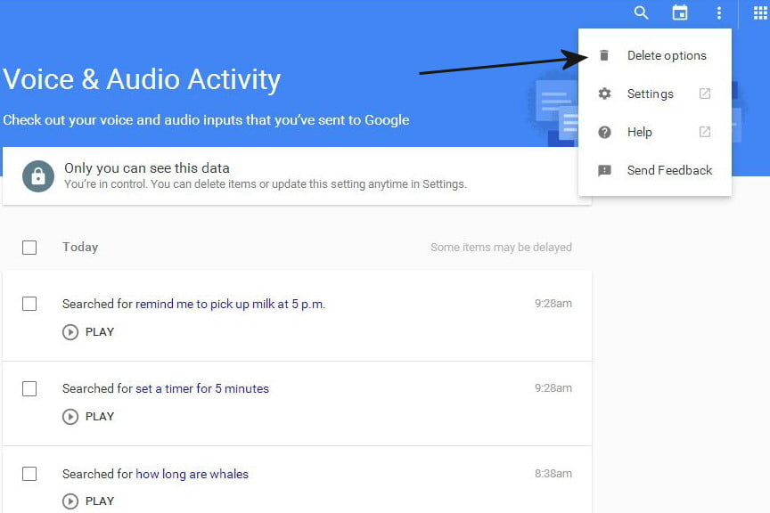 opt out delete google voice search history now 04a