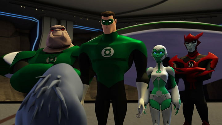 The cast of Green Lantern: The Animated Series.