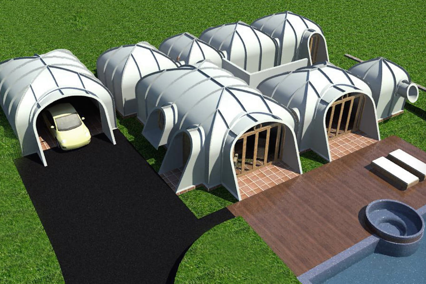 green magic homes are prefab houses covered in plants 0026