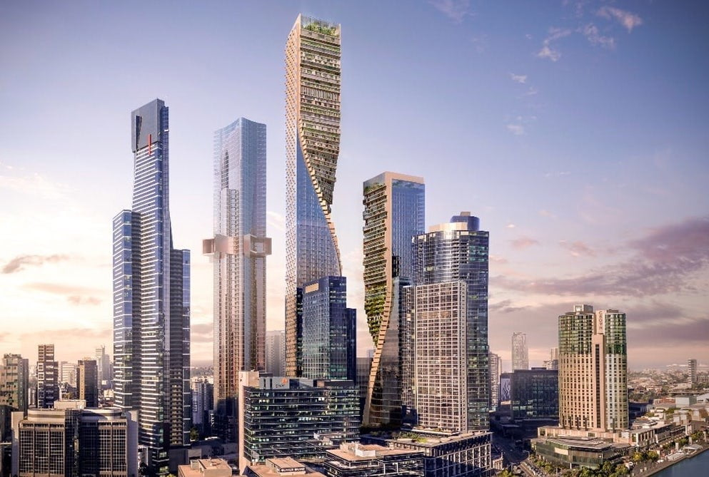 spectacular twisting tower could become australias tallest building green spine 1