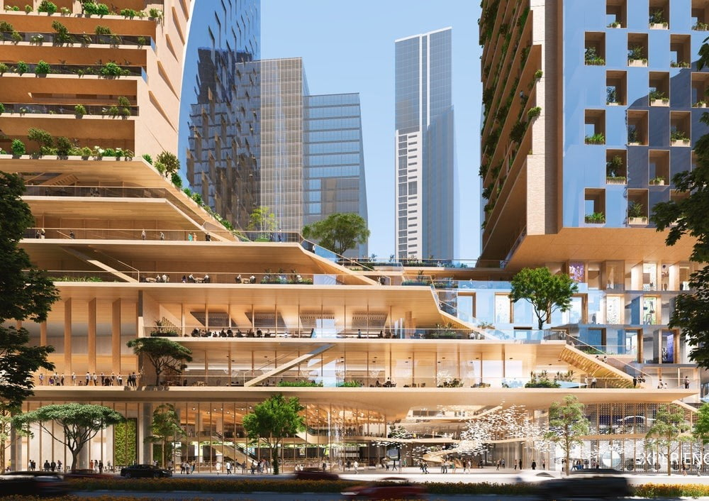spectacular twisting tower could become australias tallest building green spine 3