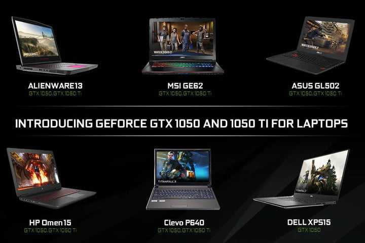nvidia formally announces geforce gtx 1050 and ti laptops