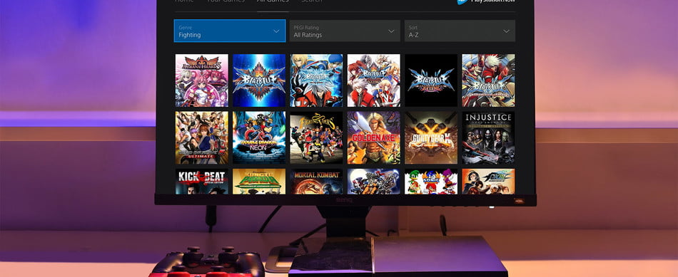 PS4 (Playstation 4) using PS Now.