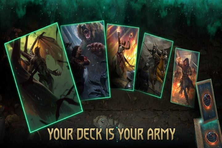 Gwent: The Witcher Card Game on Android.